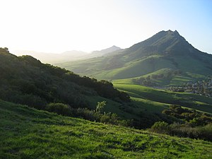 Bishop Peak (California) - Bishop Peak from Cerro San Luis