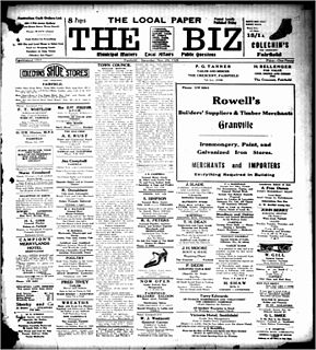 <i>The Biz</i> (newspaper) newspaper in Fairfield, NSW, Australia, active 1928 - 1972