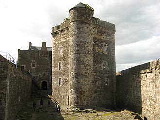 Blackness Castle - The courtyard and Central Tower seen from the north tower