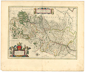 County of Loon - Map of the Bishopric of Liège with t Land van Loen), Joan Blaeu, Atlas Maior, 1645
