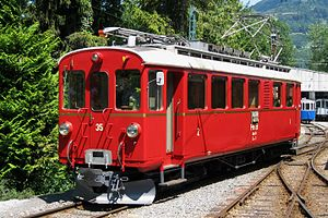 Rhaetian Railway ABe 4/4 I - ABe 4/4 I Nr. 35 at the Blonay–Chamby Museum Railway