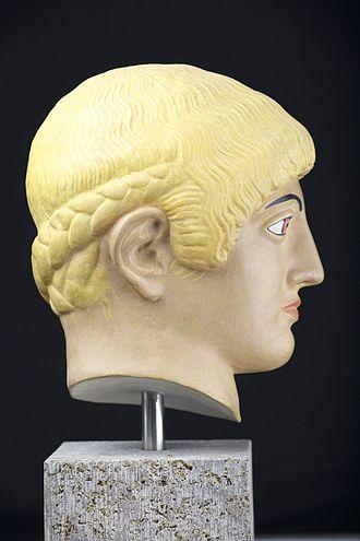 Blond Kouros's Head of the Acropolis - Image: Blonder Kopf von der Akropolis 3