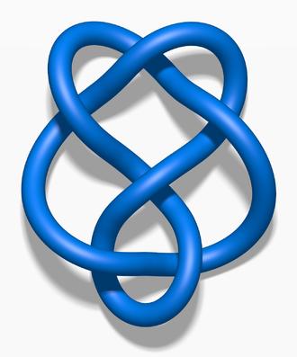 6₂ knot - Image: Blue 6 2 Knot