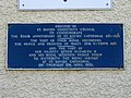 Blue plaque - 800th anniversary of St. Davids Cathedral 1181-1981.jpg