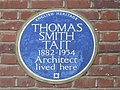 Blue plaque on Thomas Smith Tait's former house, Wyldes Close - Hampstead Way, NW11 - geograph.org.uk - 2316325.jpg
