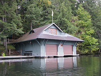 Spitfire Lake - Image: Boat house on Spitfire Lake