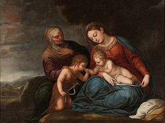 Pedro Atanasio Bocanegra - The Virgin with Child, Saint Elisabeth and John the Baptist, now at the Prado in Madrid.