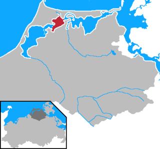 Bodstedter Bodden bodden (lagoon) in Germany