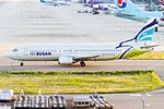 Boeing 737-400 (Air Busan) HL7510 (9433098793).jpg
