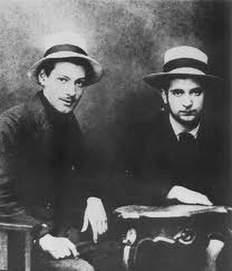 Stanislav Vinaver - Milutin Bojić (left) and Stanislav Vinaver (right)