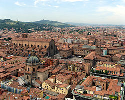 Beautiful city of Bologna.