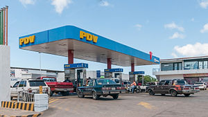 PDVSA - Filling station in Venezuela of PDV (a subsidiary of PDVSA)