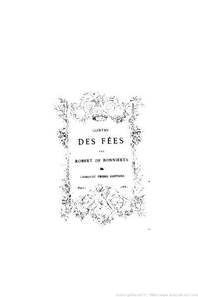 File:Bonnières - Contes des fées, 1881.djvu