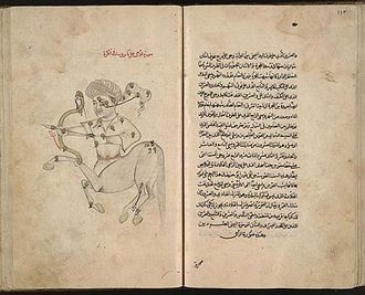 Abd al-Rahman al-Sufi - The constellation Sagittarius from The Depiction of Celestial Constellations