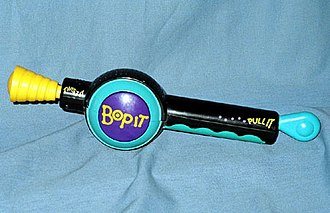 Bop It - The original Bop It was released in 1996, and quickly became a popular children's toy with later models winning numerous BATR Electronic Game of the Year awards.