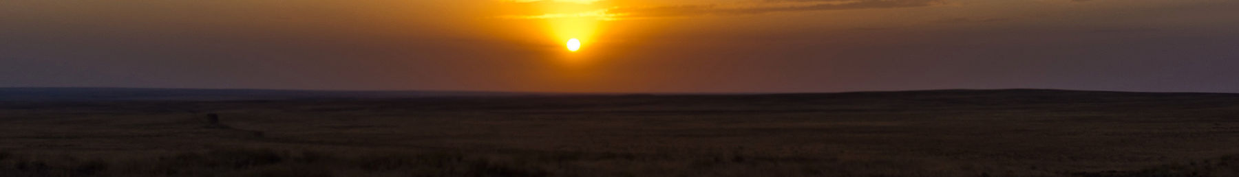 Sunset on the steppe, near Boralday