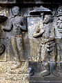 Borobudur - Lalitavistara - 110 E, The Buddha meets some people on the Way (detail 2) (11248727174).jpg