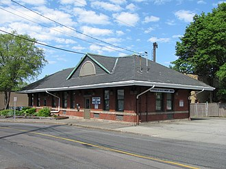 National Register of Historic Places listings in Stoneham, Massachusetts - Image: Boston and Maine Railroad Depot, Stoneham MA