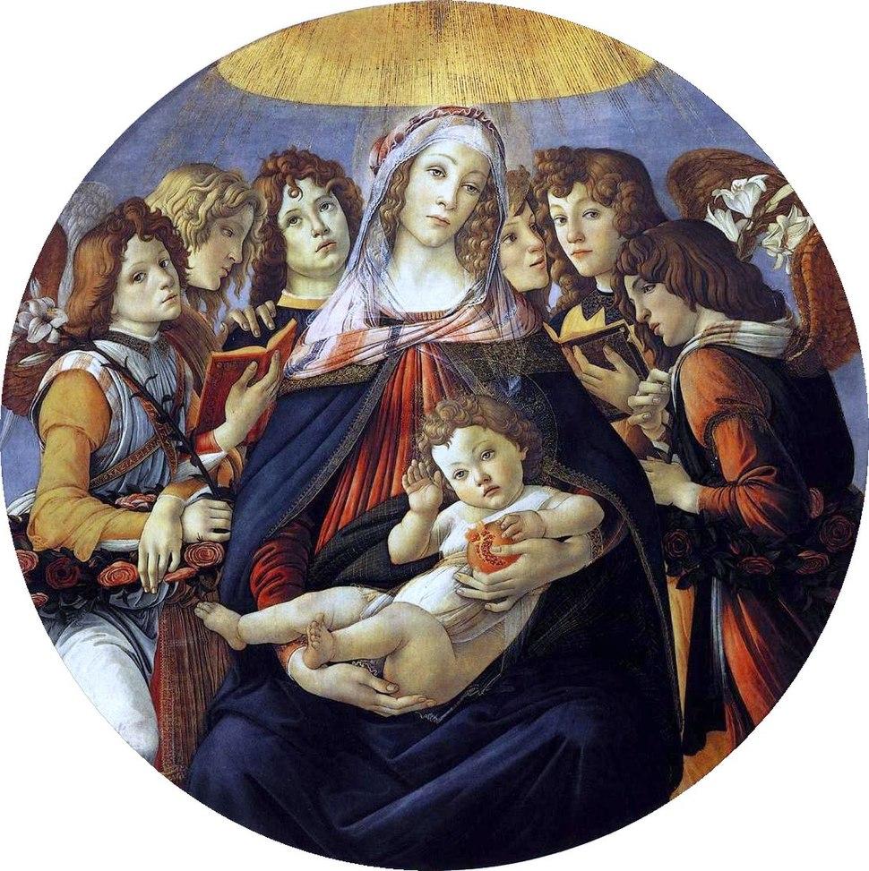 Botticelli, madonna della melagrana 01