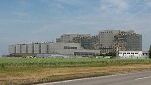 Bradwell nuclear power station - Image: Bradwell nuclear power station, from south west