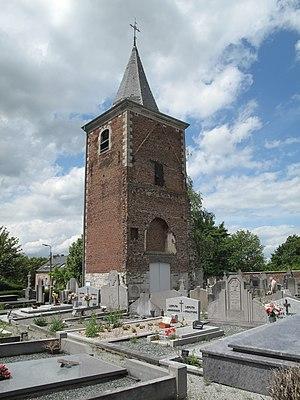 Braives - Image: Braives, tour de l'église Notre Dame foto 2 2012 07 01 13.27