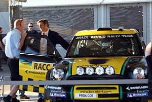 Luis Moya - Moya with Brazil World Rally Team at the 2011 Rally of Spain