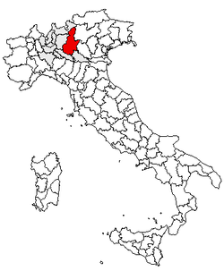 Location of Province of Brescia