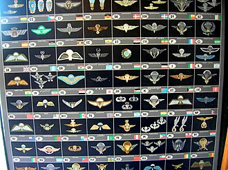 Parachutist Badge - Paratrooper badges of various countries.