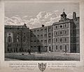 Bridewell Hospital; a corner of a courtyard. Engraving by T. Wellcome V0012965.jpg