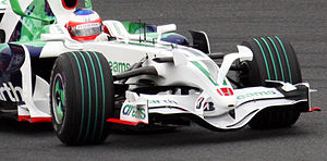 Formula One tyres - Image: Bridgestone Make Cars Green tyres 2008 Japan