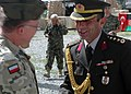 Brigadier General Jozef Nasiadk and Col. Can Bolat, shake hands and share a conversation (4699954876).jpg