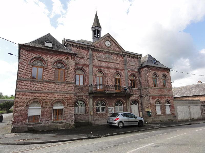 Brissy-Hamégicourt (Aisne) ancienne mairie d'Hamégicourt