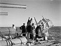 British Cruiser Which Lived To Fight Again. 14 To 19 December 1942, on Board HMS Argonaut En Route To Algiers, the British Cruiser Argonaut After She Had Been Torpedoed in the Mediterranean. Despite Heavy Damag A13754.jpg