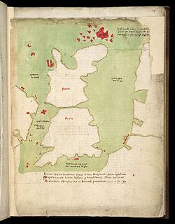 British Library, Harley MS 3686 map of the British Isles