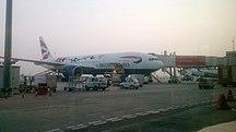 Sân bay quốc tế Kempegowda-Các hãng hàng không và các tuyến điểm-British airwyas Boeing 777 2015 Livery