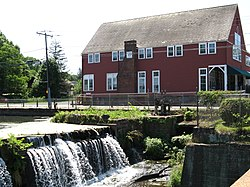 The dam and Opera House in the Broad Brook section of town