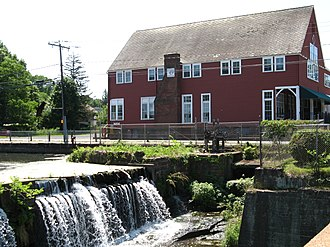 East Windsor, Connecticut - The dam and Opera House in the Broad Brook section of town