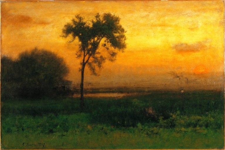 Brooklyn Museum - Sunrise - George Inness - overall - 2