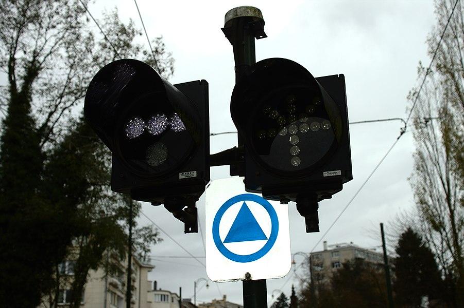 Tram signals, Brussels, Belgium