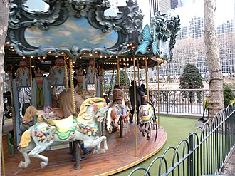 Bryant Park - Le Carrousel designed by Marvin Sylvor