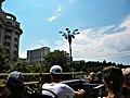 Bucuresti, Romania. Casa Poporului (Palatul Parlamentului) vazuta de turisti din autobusul etajat. 2 Iunie 2018.jpg