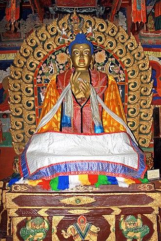 Dīpankara Buddha - Sanjaa (Dīpankara) inside Western Temple in the Erdene Zuu Monastery, Mongolia.