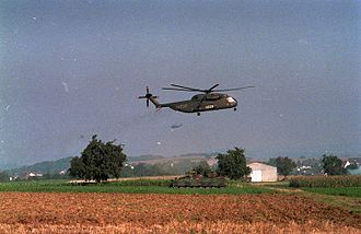 Medium Transport Helicopter Regiment 25 - CH-53G during NATO exercise in 1986