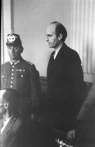 Adam von Trott zu Solz - Trott zu Solz on trial at the Volksgerichtshof, 1944
