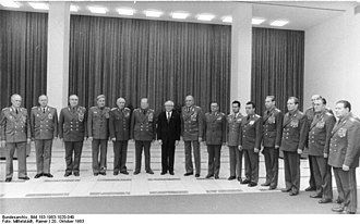 Lajos Czinege - Lajos Czinege is in the fourth from right of Erich Honecker (in suit).