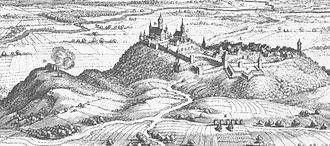 Amöneburg - Amöneburg: from the Topographia Hassiae by Matthäus Merian 1655