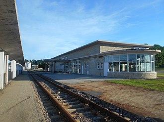 Burlington station (Iowa) - Burlington station in June 2014.