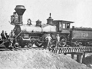 Burlington and Missouri River Railroad - The first train to arrive in Broken Bow, Nebraska, August 26, 1886