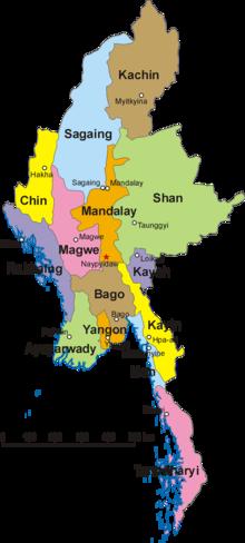 Carte Politique Birmanie.Birmanie Wikipedia