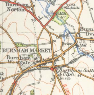 Burnham Market - A map of Burnham from 1946
